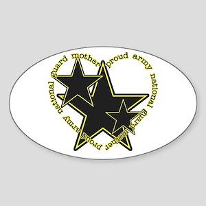 Proud Guard Mom Oval Sticker