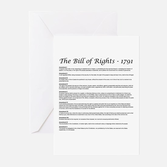 Bill of Rights 2 Greeting Cards (Pk of 10)