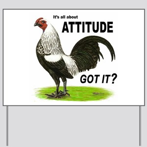 Attitude Game Bantam Yard Sign