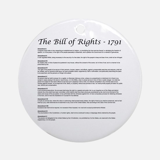 Bill of Rights 2 Keepsake (Round)