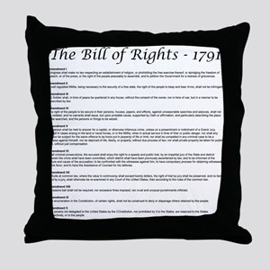 Bill of Rights 2 Throw Pillow