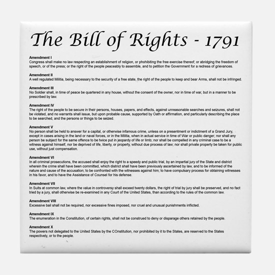 Bill of Rights 2 Tile Coaster