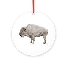 White Buffalo Ornament (Round)