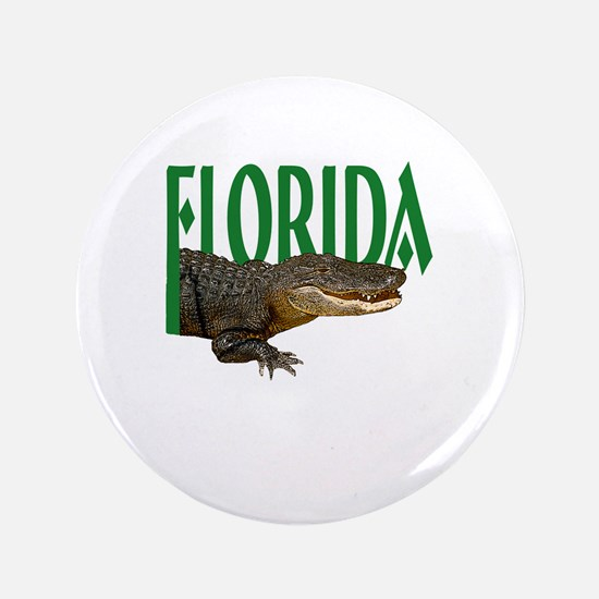 "Florida Alligator 3.5"" Button"