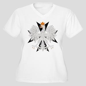 Polish Eagle Black Maltese Cr Women's Plus Size V-
