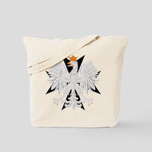 Polish Eagle Black Maltese Cr Tote Bag