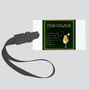 Pina Colada (Green/Yellow) Large Luggage Tag