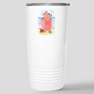 Pig at the beach Mugs