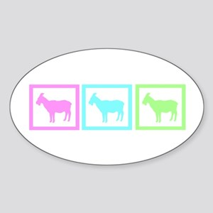 Goat Squares Sticker (Oval)