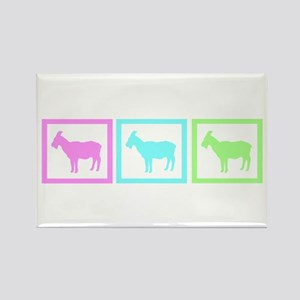 Goat Squares Rectangle Magnet