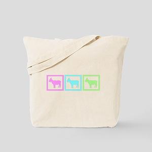 Goat Squares Tote Bag