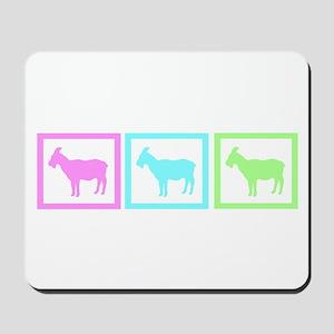 Goat Squares Mousepad