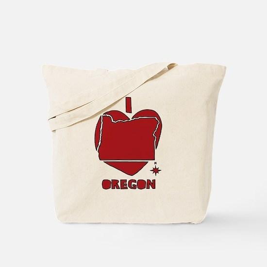Funny I love oregon Tote Bag