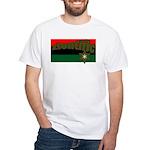 ziontific Black Flag White T-Shirt