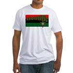 ziontific Black Flag Fitted T-Shirt