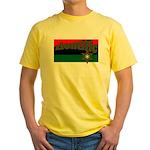 ziontific Black Flag Yellow T-Shirt