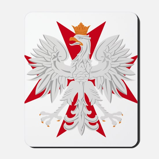 Polish Eagle Red Maltese Cros Mousepad