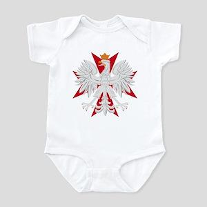 Polish Eagle Red Maltese Cros Infant Bodysuit