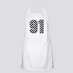 Checkered Number 91 BBQ Apron