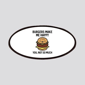 Burgers Make Me Happy Patches