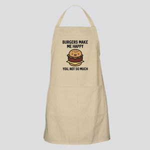 Burgers Make Me Happy Apron