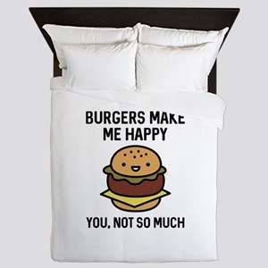 Burgers Make Me Happy Queen Duvet