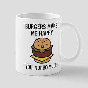 Burgers Make Me Happy Mug