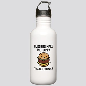 Burgers Make Me Happy Stainless Water Bottle 1.0L