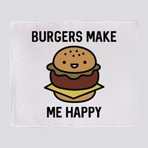 Burgers Make Me Happy Stadium Blanket