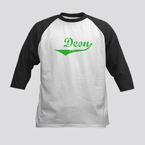 Deon Vintage (Green) Kids Baseball Jersey