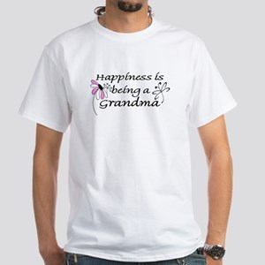 Happiness is being a Grandma White T-Shirt