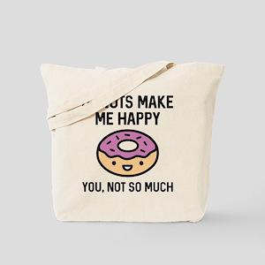 Donuts Make Me Happy Tote Bag