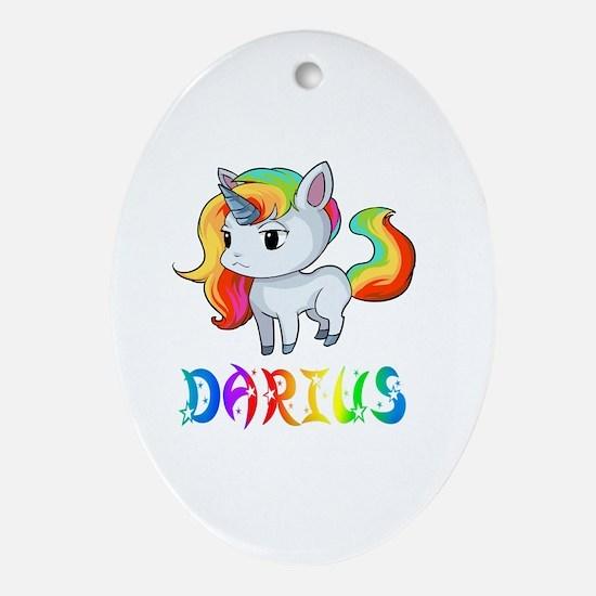 Cute Darius Oval Ornament