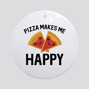 Pizza Makes Me Happy Ornament (Round)