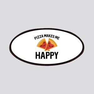 Pizza Makes Me Happy Patches