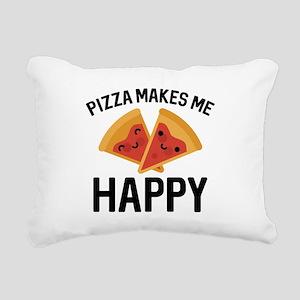 Pizza Makes Me Happy Rectangular Canvas Pillow