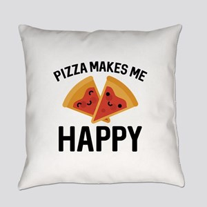 Pizza Makes Me Happy Everyday Pillow