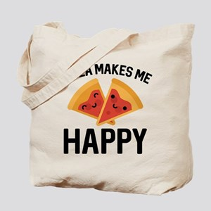 Pizza Makes Me Happy Tote Bag