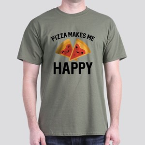 Pizza Makes Me Happy Dark T-Shirt