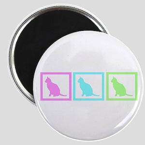 Cat Squares Magnet