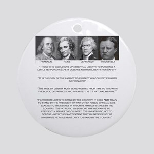 Liberty & Patriots Keepsake (Round)