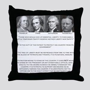 Liberty & Patriots Throw Pillow