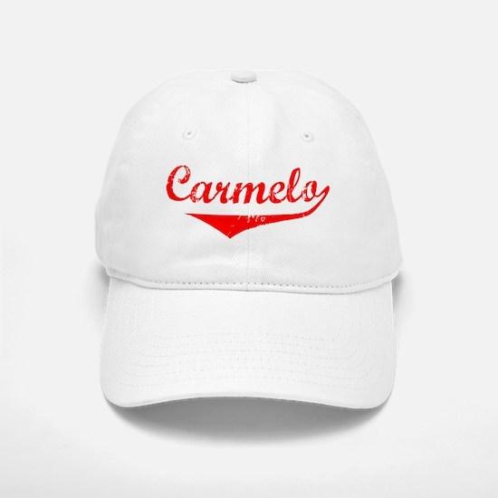 Carmelo Vintage (Red) Baseball Baseball Cap
