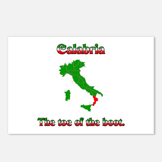 Calabria, the toe of the boot. Postcards (Package