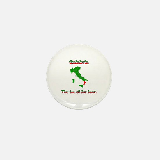 Calabria, the toe of the boot. Mini Button