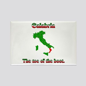 Calabria, the toe of the boot. Rectangle Magnet