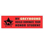 Greyhound - Honor Student Bumper Sticker