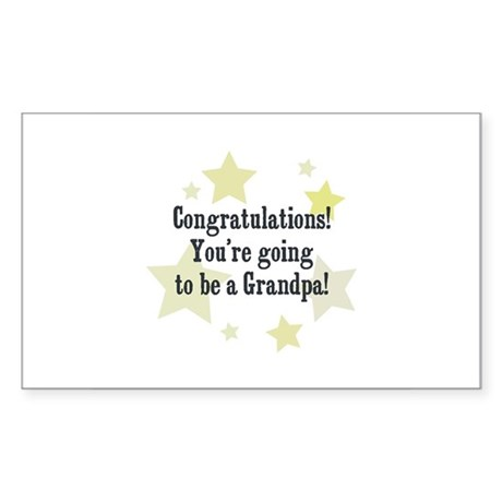 Congratulations! You're going Sticker (Rectangular