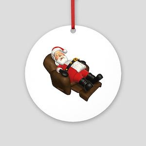 Sleeping Santa Ornament (Round)