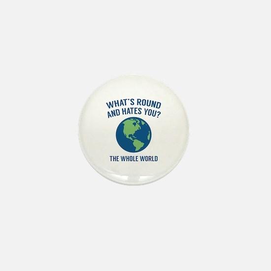 The Whole World Mini Button